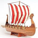 Drakkar Wooden Viking Ship Model