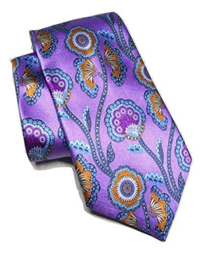 New Men's Ermenegildo Zegna Butterfly Floral Pattern Italian Silk Tie