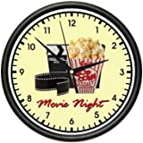 MOVIE NIGHT Wall Clock home theater theatre decor art