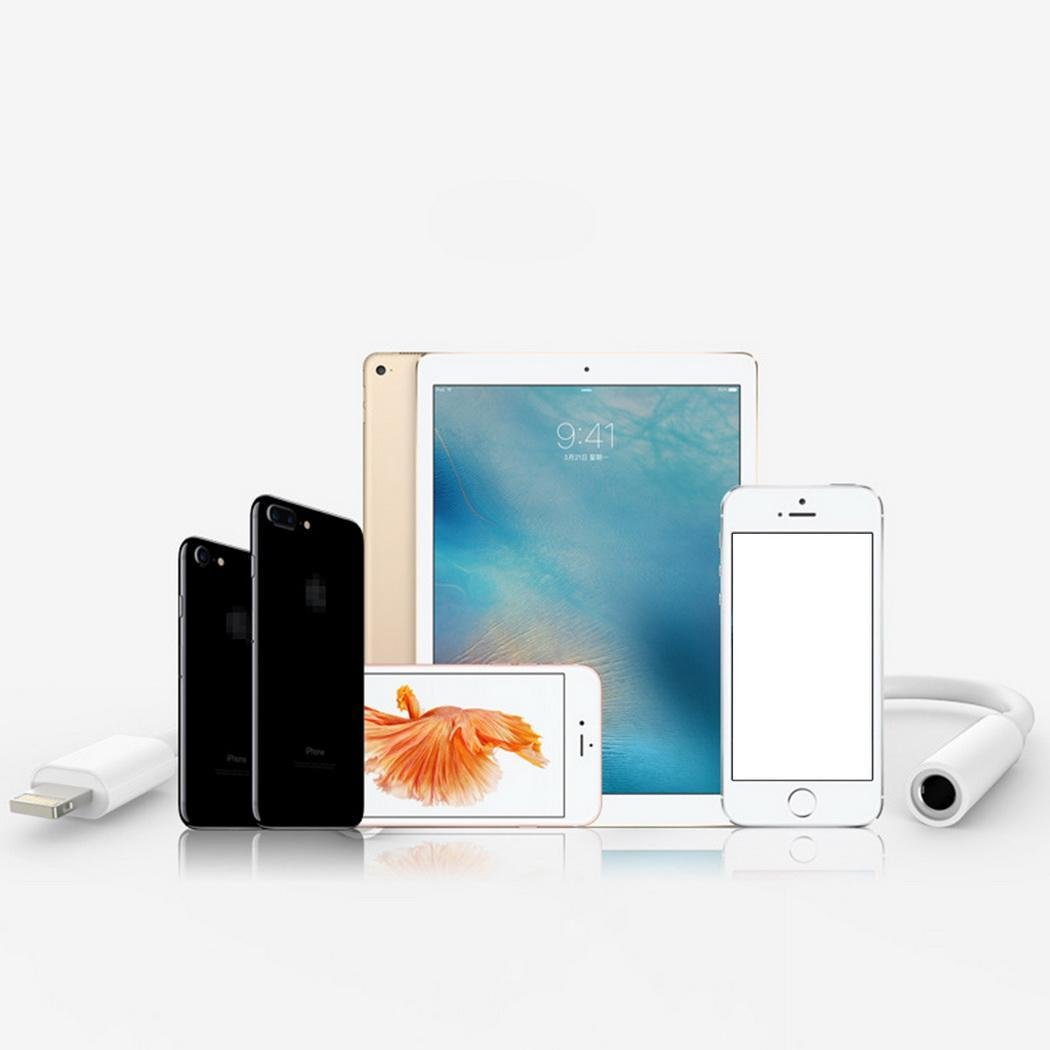 Yagaiu 3,5 mm AUX Audio Kopfh/örer Extender Blitz Stecker Adapter Kabel f/ür iPhone wei/ß