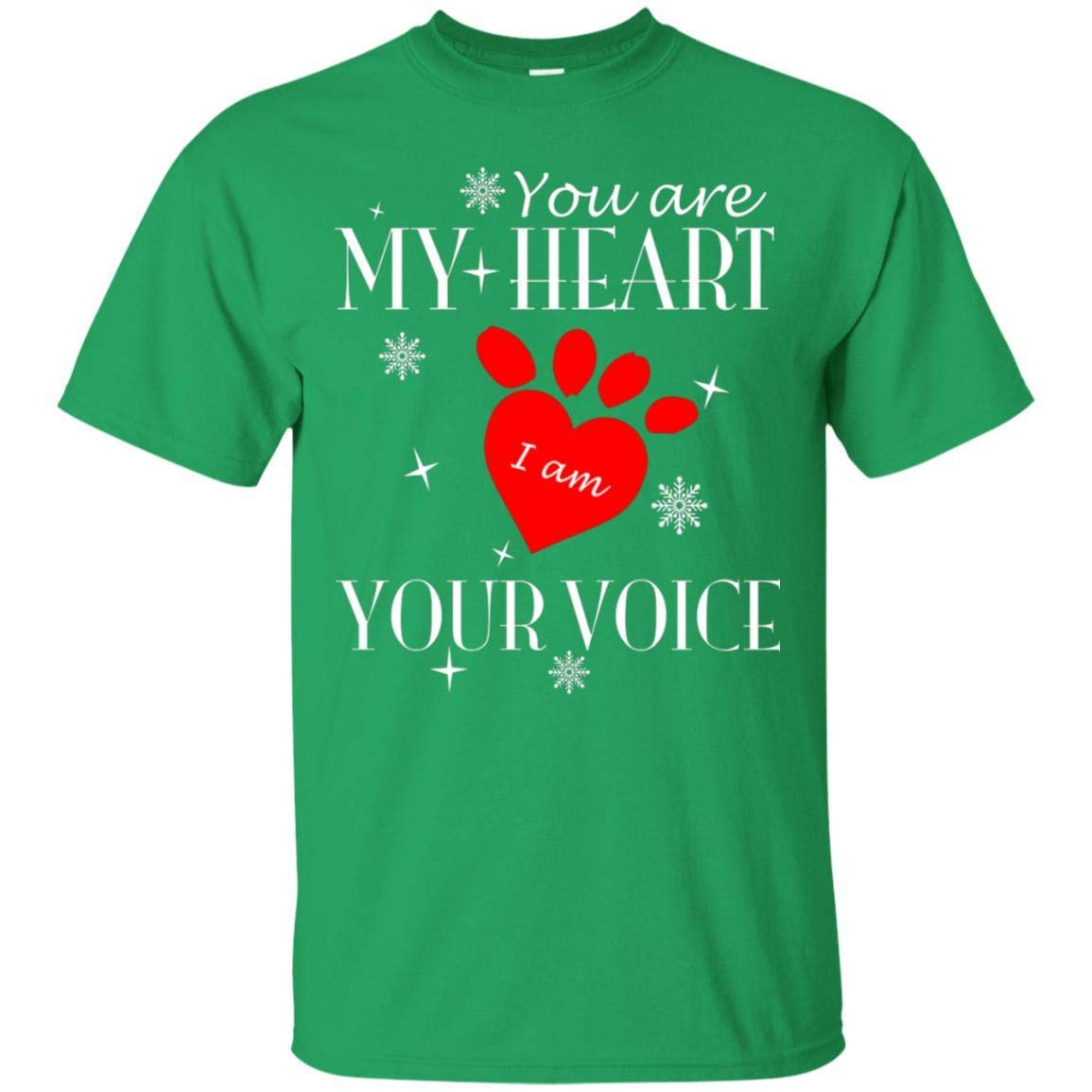Teelesto You are My Heart I Am Your Voice Dog Lovers Gift Shirt