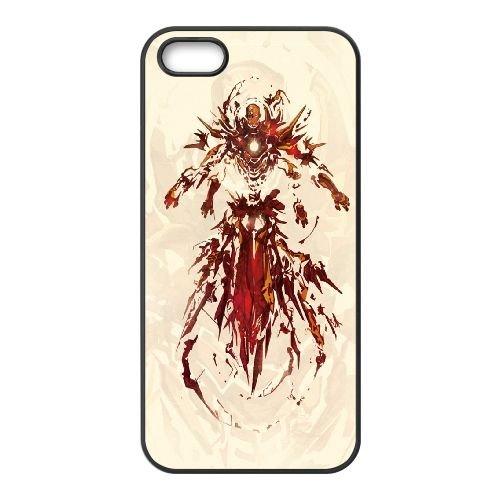 901 Iron Man L2 coque iPhone 5 5S cellulaire cas coque de téléphone cas téléphone cellulaire noir couvercle EOKXLLNCD21134