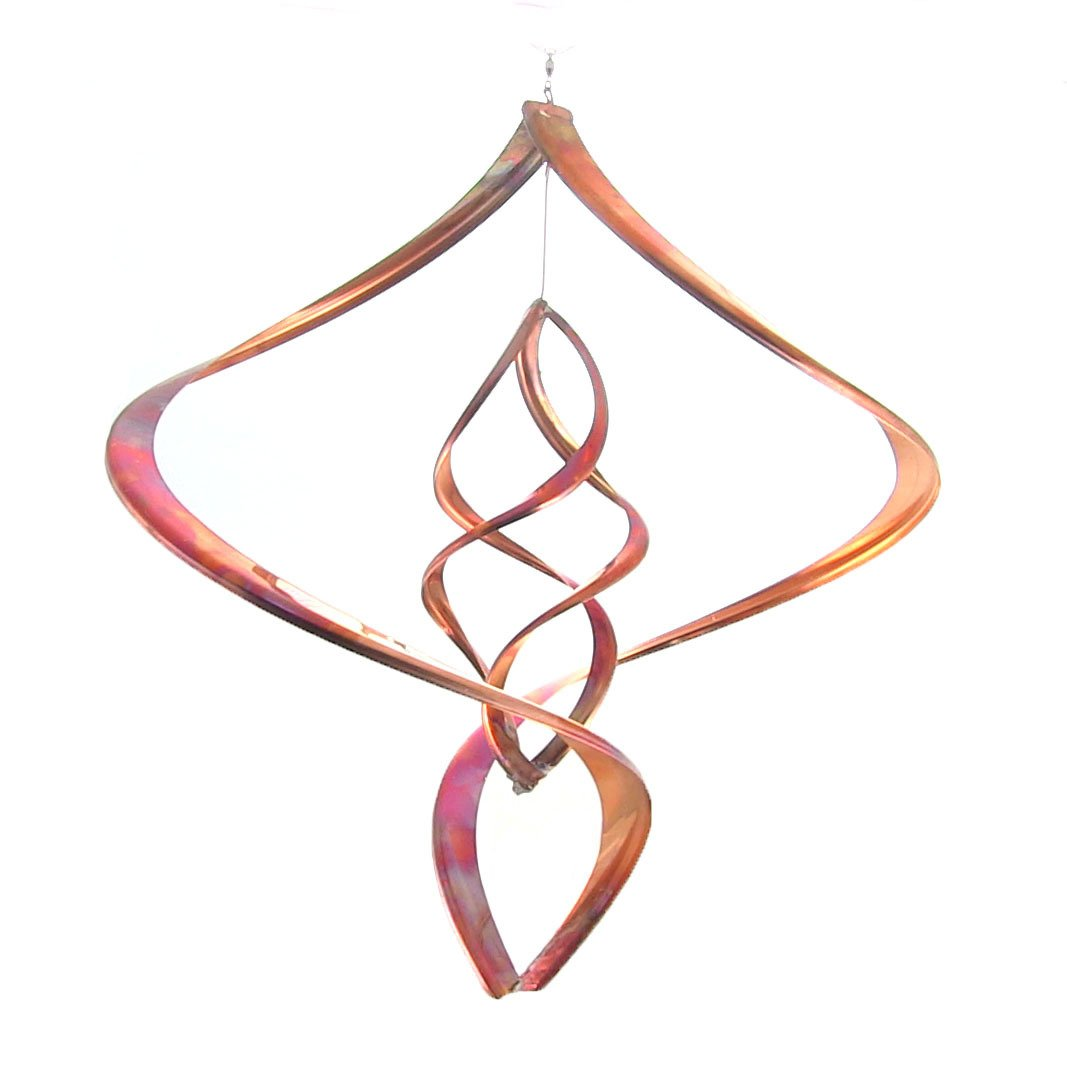 Sunnydaze Orbiter Copper Wind Spinner, 18-Inch