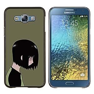 LECELL--Funda protectora / Cubierta / Piel For Samsung Galaxy E7 E700 -- Emo Kid --