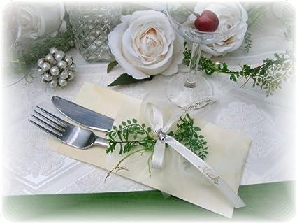 Servilletas con diseño de comunión o confirmación nombre pescado crema
