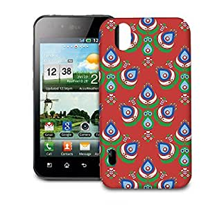 Phone Case For LG Optimus P970 - Festive Peacock Scandinavia Snap-On Hardshell
