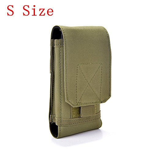 Tactical MOLLE Smartphone Holster, Universal Army Mobile Phone Belt Pouch EDC Security Pack Carry Accessory Kit Blowout Pouch Belt Loops Waist Bag Case for iPhone SE 5S Samsung Galaxy S4 Mini ()