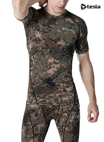 TM R13 PCKZ Small TSLA Men's Short Sleeve T Shirt Cool Dry Compression Baselayer R13