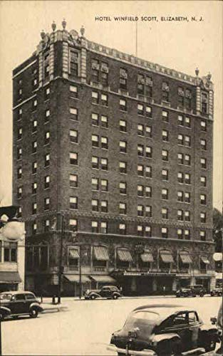 Hotel Winfield Scott Elizabeth, New Jersey Original Vintage Postcard
