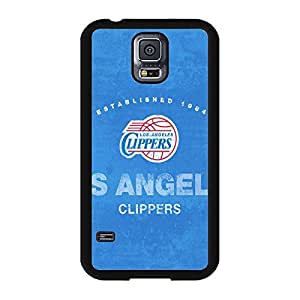 Samsung Galaxy S5 case Cute Girl Los Angeles Clippers NBA Basketball Team Logo Sports for Men Design Hard Plastic Durable Accessories Protective Case Cover for Samsung Galaxy S5