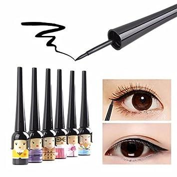Cute Lovely Doll Style Waterproof Liquid Pen Liner Black Eyeliner Gel Beauty Essentials Long Lasting