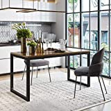 """Amolife Kitchen Table,Heavy Duty Metal Frame 45"""" Tables for Dinning Living Room Farmhouse Home Office"""