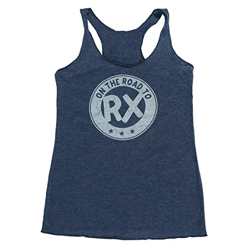 On the Road to Rx - Navy Blue - Women's Triblend Racerback Tank Top