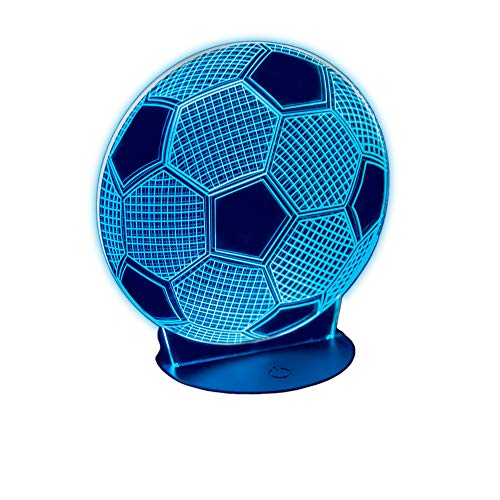 Soccer Ball LED Night Light, 7 Color Changes with Smart Touch Switch, Three Viewing Modes by Glowvex