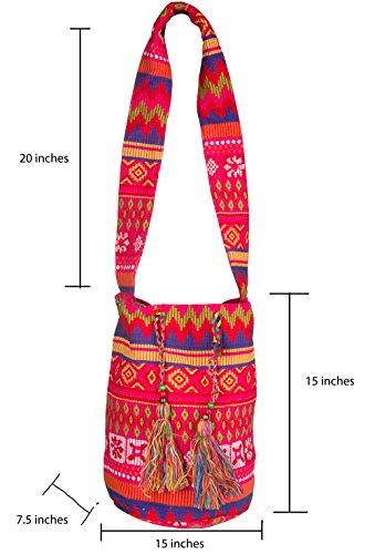 Shoulder Bag Hippie Crossbody Azure Hobo Casual Pink Oversize Market Sling Tribe Beach Messenger Shopping awXAqYIa