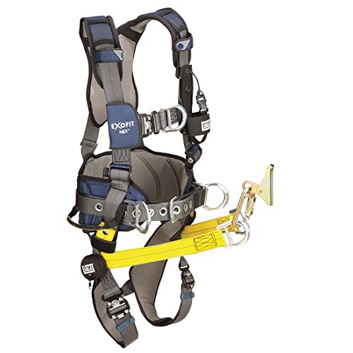 3M DBI-SALA 1113456 Exofit Nex Aluminum Back/Front D-Ring, Wind Energy Belt with Pad/Side D-Rings, Hip Climb Assist Straps Use with 6160026 Cable Grip and QC Buckle Legs