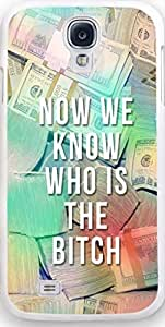 """Samsung Case,Dseason Samsung Galaxy S4 Hard Case NEW fashionable Unique Design christian quotes Money tile""""now we know who is the bitch"""""""