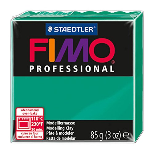 Staedtler Fimo Professional Soft Polymer Clay, 3-Ounce, True Green - Fimo Modeling Clay