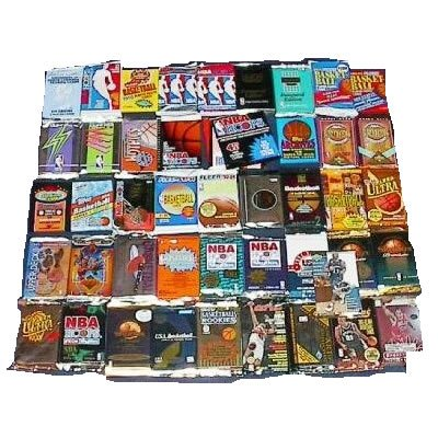 200 Basketball Cards in Old Sealed Wax Packs (20 Different Trading Cards)