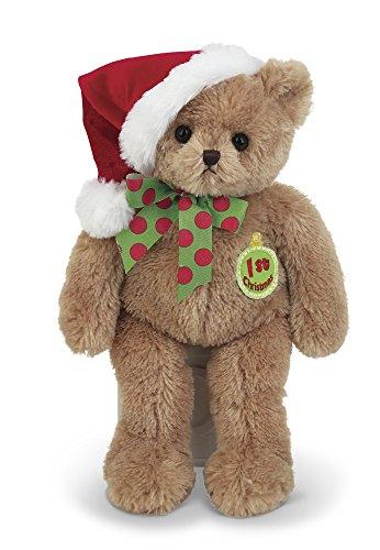 Hats Babys Santa 1st - Bearington Baby's First Christmas Teddy Bear in Santa Hat, 13