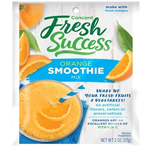 Concord Orange Smoothie Mix, 2-Ounce Packages (Pack of 18)