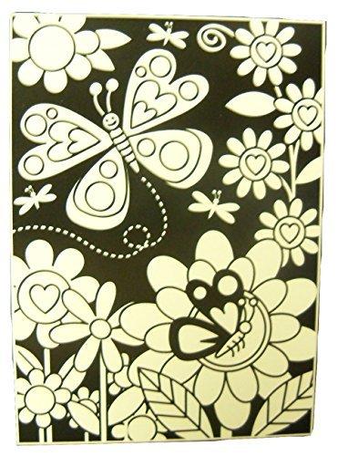 Butterfly Velvet Poster (Creatology Velvet Poster with 3 Mini Markers ~ Flowers and Butterflies of Love (6
