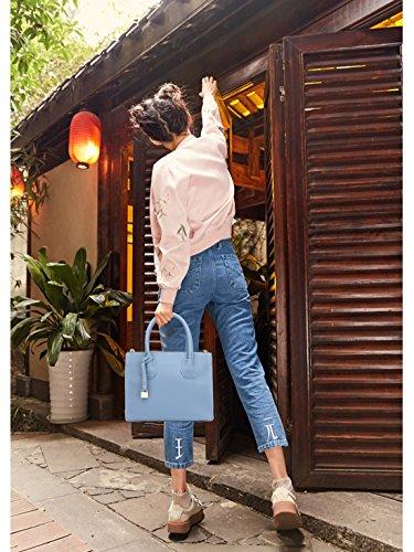 NICOLE&DORIS Nuevo Bolsos de Mano para Mujer Monederos Bolso Tote Crossbody Mujer Bolso de Bandolera Bolsa Durable PU Azul Azul