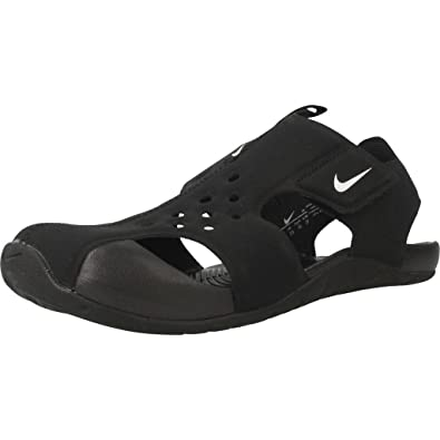 NIKE Kids Sunray Protect 2 (PS) Black White Size 11