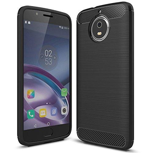 Moto X4 case, KuGi Moto X4 case, [Scratch Resistant] Premium Flexible Soft TPU Case for Moto X4 / Moto x 4th Gen Smartphone (Black)