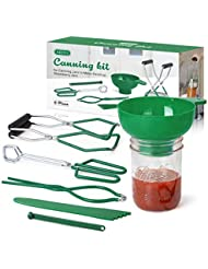 AIEVE Canning Kit Canning Supplies Include Canning Funnel, Jar Lifter, Jar Wrench, Lid Lifter, Canning Tongs, Bubble Popper/Bubble Measurer/Bubble Remover Tool for Canning Jars Mason Jars Canning Pot