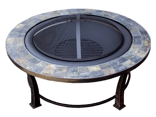 AZ Patio Heaters Fire Pit with Round Table, Wood Burning