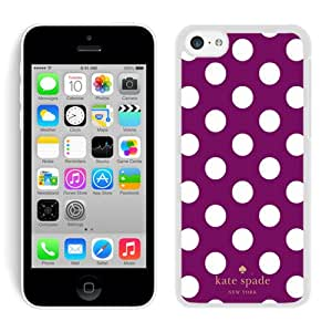 Personalized Popular Design iPhone 5C Case Kate Spade New York Phone Case For iPhone 5C Plastic Cover Case 286 White