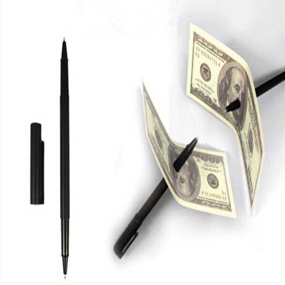 LeSharp Magic Kits Accessories, Amazing Toy Close-up Magic Pen Penetration Through Paper Dollar Bill Trick Props