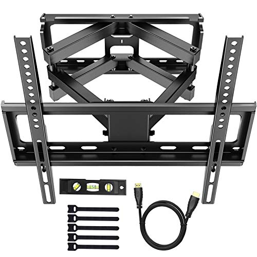 (PERLESMITH TV Wall Mount Bracket Tilts, Swivels, Extends - Full Motion Articulating TV Mount for 26-55 Inch LED, LCD, Plasma Flat Screen TVs up to 99lbs Max VESA 400x400)