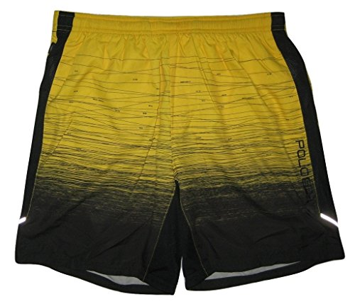 """Polo Sport Men's 7-1/4"""" Lined Athletic Shorts, Black, Small"""