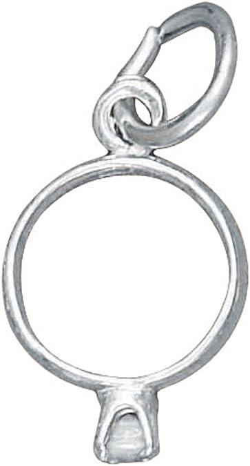 Sterling Silver 3D Horse Hair Polishing Brush Dangle Charm Bead For Bead Charm Bracelet