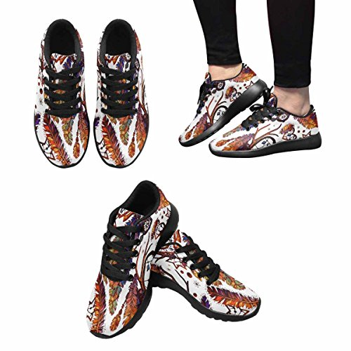 InterestPrint Womens Jogging Running Sneaker Lightweight Go Easy Walking Comfort Sports Athletic Shoes Dream Catcher For Boho Style Multi 1 5cNMuuM