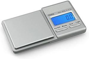 Truweigh Omni Digital Mini Scale - (500g x 0.1g - Silver) - Digital Travel Scale - Mini Digital Scale - Small Pocket Size Scale - Traveling Scales Digital Weight - Jewelry Scale