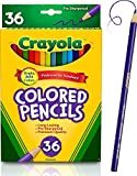 Crayola Colored Pencils, 36 Premium Quality, Long-Lasting, Pre-Sharpened Pencils Non-Toxic Colored Pencil Set for Adult Coloring Books or Kids 4 & Up, Great for Shading, Gradation, Line Art & More