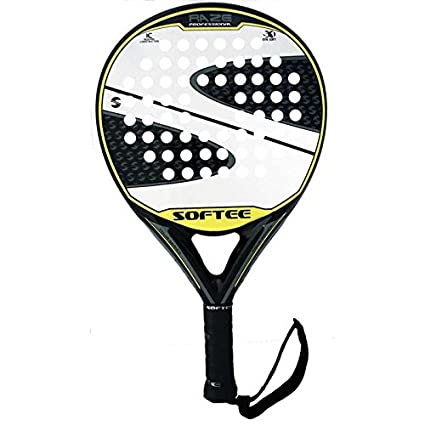 Softee Raze New - Pala de pádel, Color Negro/Blanco/Amarillo, 38mm