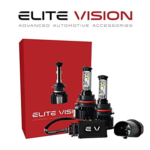Elite Vision Advanced Automotive Accessories - Elite LED Conversion Kit 9004 for Bright White Headlights Bulbs, Low Beams, High Beams, Fog Lights