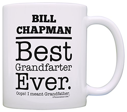 Fathers Day Gifts for Grandpa Custom Grandpa's Name Best Grandfarter Ever Oops I Meant Grandfather Granddaughter Gifts Funny Grandpa Gifts 2 Pack Personalized Gift Coffee Mugs Tea Cups White
