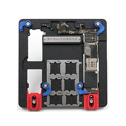 A21 Motherboard Clamps High Temperature Main Logic Board PCB Fixture Holder for iPhone 5S 6 6S 7 8 8Plus Fix Repair Mold Tool