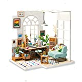 Eggschale DIY Miniature Dollhouse Kit SOHO TIME Wooden House Model 3D Toys Dolls House Furniture Birthday for Teens and Adults