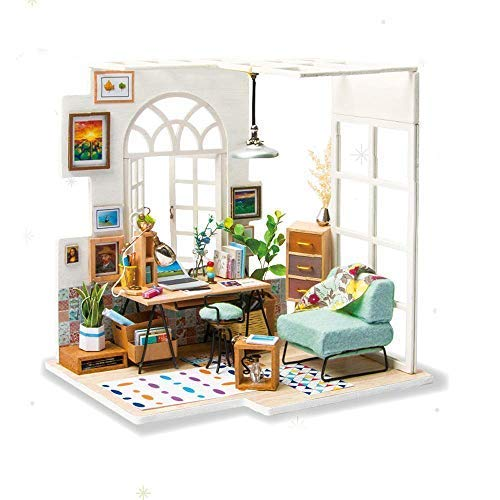 Eggschale DIY Miniature Dollhouse Kit SOHO TIME Wooden House Model 3D Toys Dolls House Furniture Birthday for Teens and Adults ()