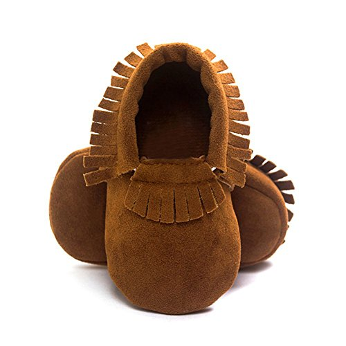 ESHOO bebé borla zapatos suela suave Candy Color Prewalker zapatos de cuna 0–