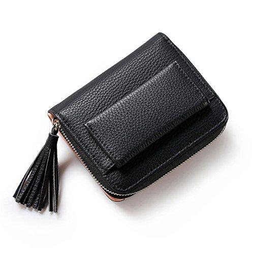 sac Hasp Wallet monnaie Mini Zipper Porte Multifonctions carte rose amp; à Black gland Fold à de femmes court 3 Lady Portefeuilles main 6ZRAqzw