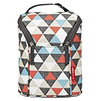 Skip Hop Double Bottle Bag (Triangles)