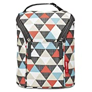 Skip Hop Grab-and-Go Insulated Double Bottle Bag, Triangles