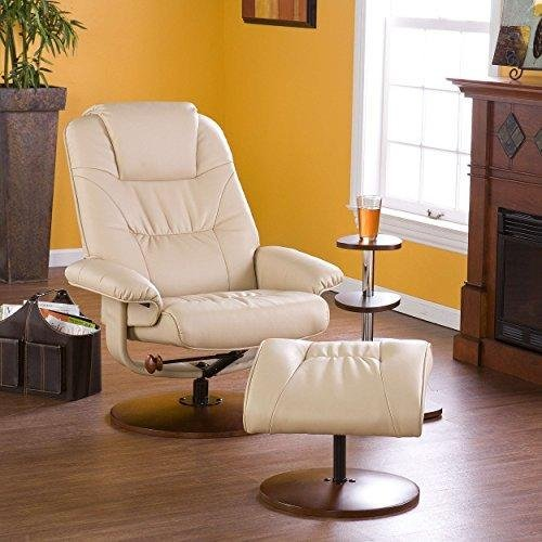 ModHaus Modern Taupe Tan Leather Recliner Lounge and Ottoman Includes ModHaus Living (TM) Pen